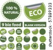 eco stickers. vector - stock vector