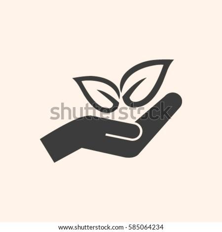 Eco Symbol Stock Vector 585064234 Shutterstock