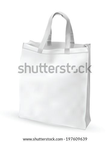 Eco textile bag. Vector EPS-10 - stock vector