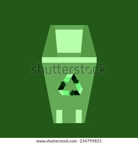 eco trash can vector