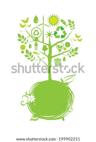 Eco tree vector illustration - stock vector