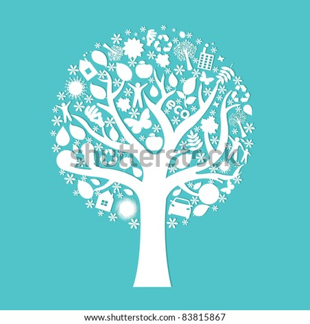 Eco Tree, Vector Illustration - stock vector