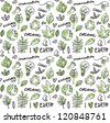 Eco vector seamless pattern - stock vector