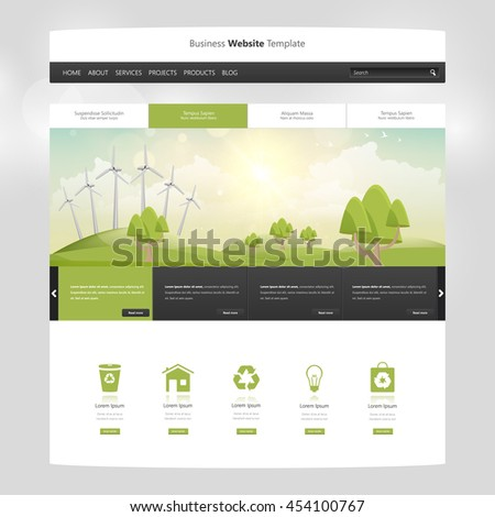 Eco Website Design Template All One Stock Photo (Photo, Vector ...
