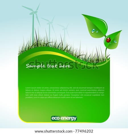 Eco Website Template - stock vector