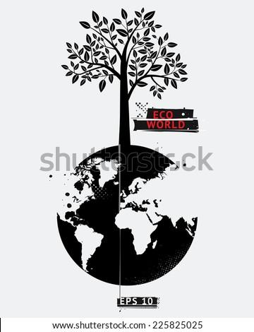 Eco world. Vector EPS 10 illustration - stock vector