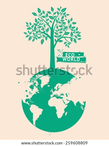 Eco world. Vector EPS 10 illustration - stock vector