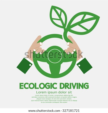 Ecologic Driving Concept Vector Illustration