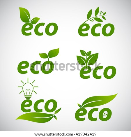 Ecologic icon set
