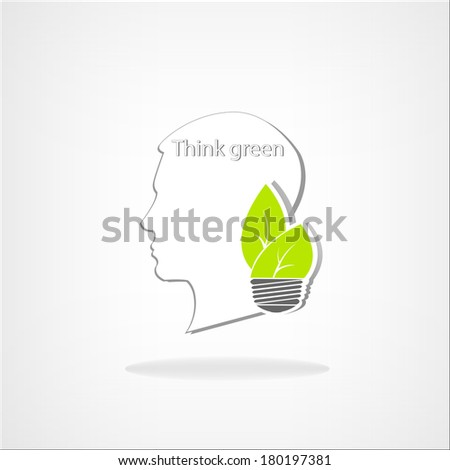 Ecological abstract vector background