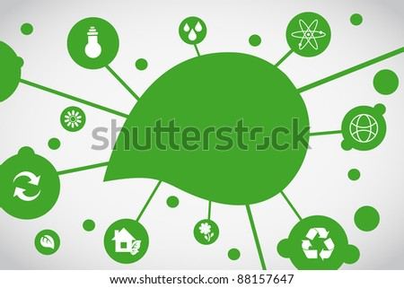 Ecological background - stock vector