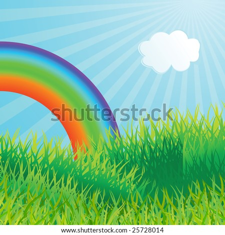 Ecological background. Vector illustration - stock vector