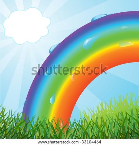 Ecological background. Vector illustration - stock vector
