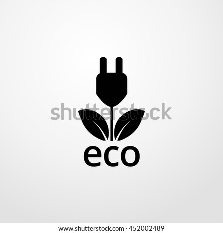 ecological energy source icon. ecological energy source sign - stock vector