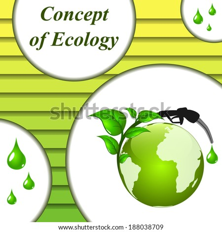 Ecological fuel. Vector background