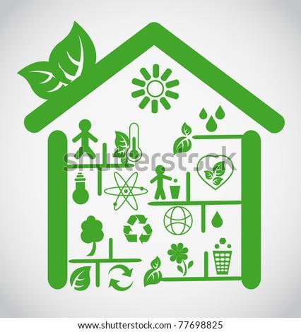 Ecological house - stock vector