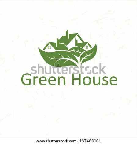 ecological house icon - stock vector