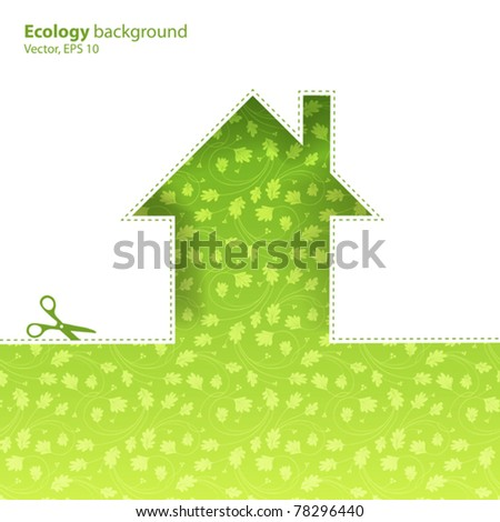 Ecological housing concept illustration.Vector, EPS10 - stock vector