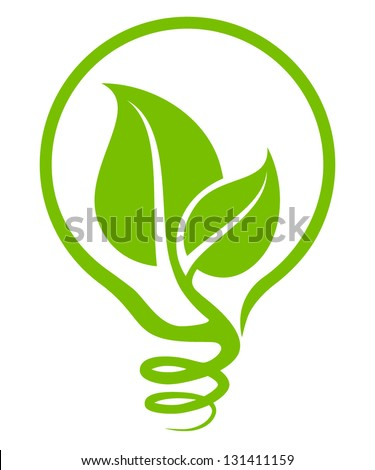 Ecological light bulb - stock vector