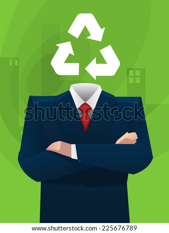 Ecological sustainable business ideas vector illustration. - stock vector