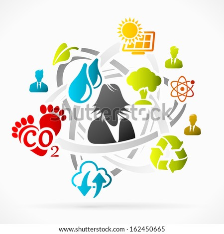 Ecology abstract motion concept   - stock vector