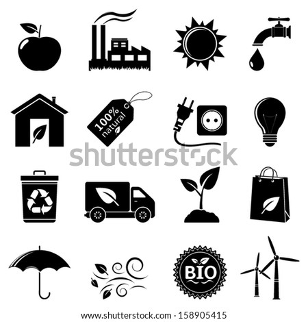 Ecology and environment icons - stock vector