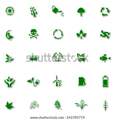Ecology and Nature icon set 5 - stock vector