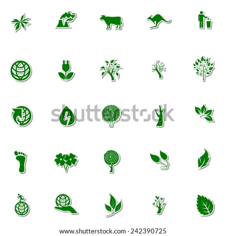 Ecology and Nature icon set 3 - stock vector