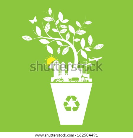 Ecology and recycle icons  symbol - stock vector