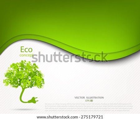 Ecology and waste plug symbol with eco friendly tag. Environmentally friendly world. Vector illustration of ecology the concept of infographics modern design. the icon and sign. ecological concepts - stock vector