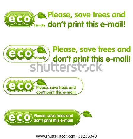 Ecology awareness - stock vector