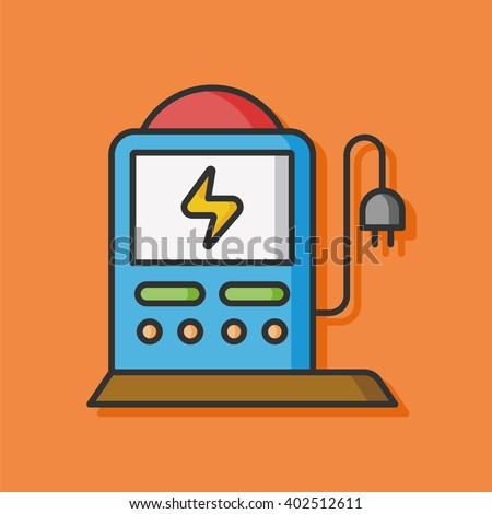 ecology battery vector icon - stock vector