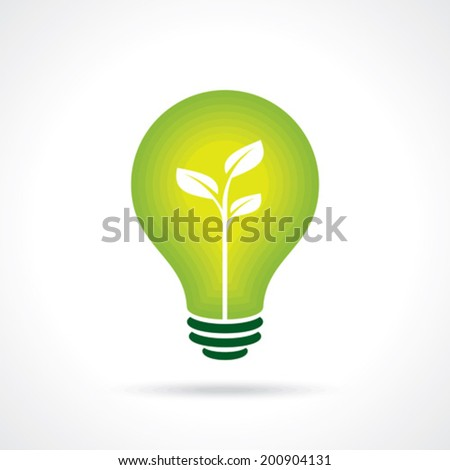 Ecology bulb - Illustration