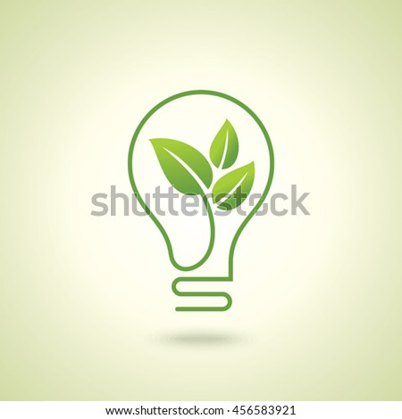 Ecology bulb light, a creative environmental idea.