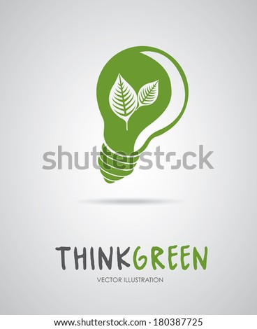 ecology bulb over gray background vector illustration