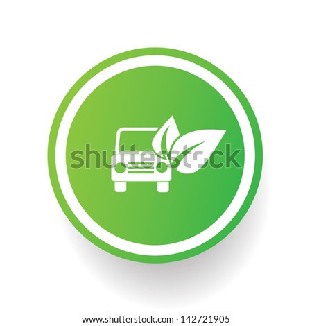 Ecology car symbol,vector - stock vector