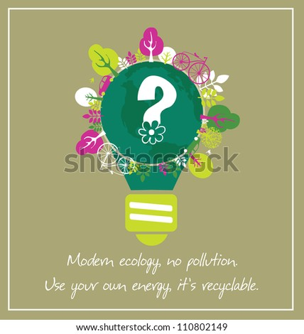 ecology card design. vector illustration - stock vector