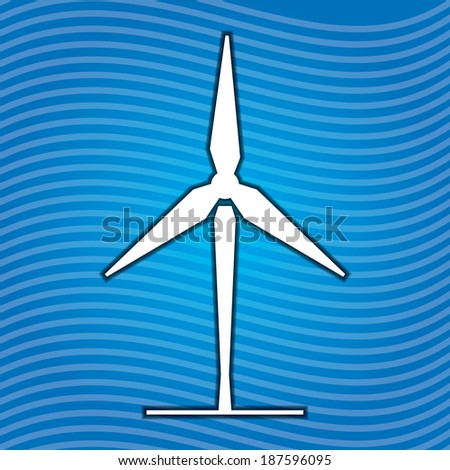 Ecology concept abstract illustration with sign of wind energy - stock vector