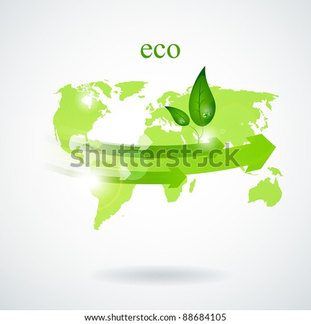 Ecology concept background - stock vector
