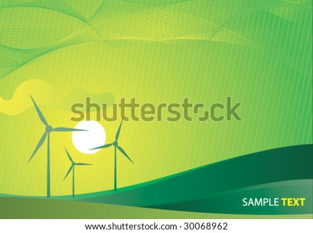 ecology concept clean vector background - stock vector