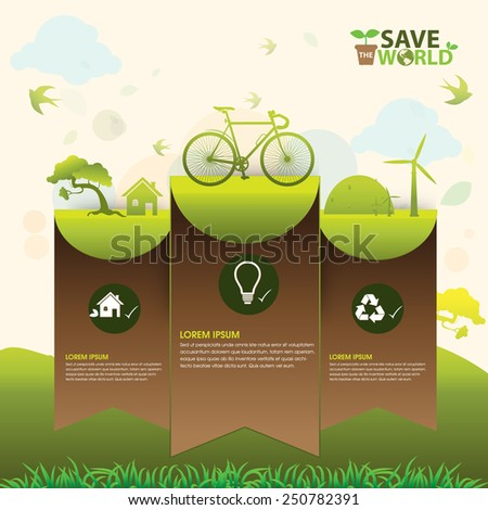 Ecology concept illustration - stock vector