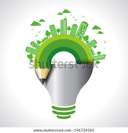 ecology concept - save earth idea - stock vector