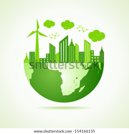 ecology concept - save earth stock vector