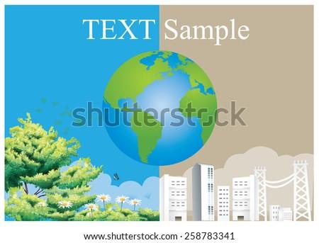 Ecology concept. save world vector - stock vector