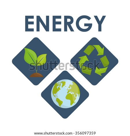 Ecology concept with green icons design, vector illustration 10 eps graphic.