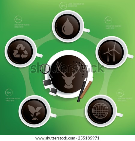 Ecology design on blur background,clean vector - stock vector