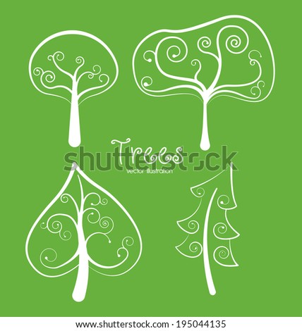 Ecology design over green background, vector illustration