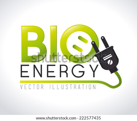 Ecology design over white background, vector illustration - stock vector