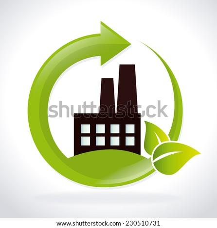Ecology design over white background,vector illustration - stock vector