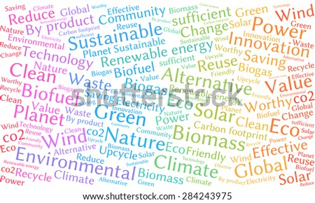 Ecology Earth concept word collage.